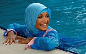 Rechter Protest gegen Frauenschwimmen