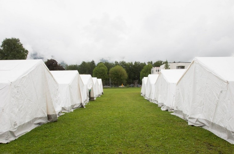 Zeltlager in Salzburg: Ein Lokalaugenschein