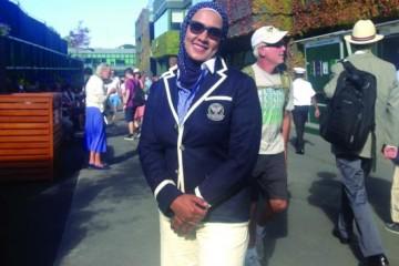 """Wimbledon: Arabische Schiedsrichterin betritt """"heiligen Rasen"""""""